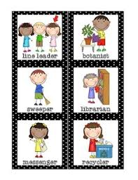 Free Printable Helper Charts Classroom Helpers Set Free