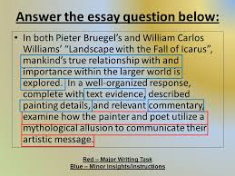 literary device allusion ppt video online  answer the essay question below