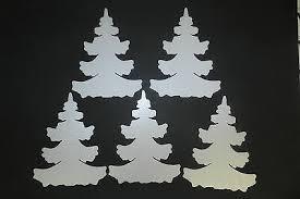 5 Stück Winter Wald Tannen Weiß 30cm Weihnachts Baum
