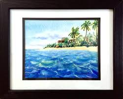 island wall art happy island framed big island hawaii wall art