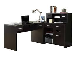 l shaped office desks. Perfect Shaped Amazoncom Monarch Specialties HollowCore LShaped Home Office Desk  Cappuccino Kitchen U0026 Dining To L Shaped Desks E