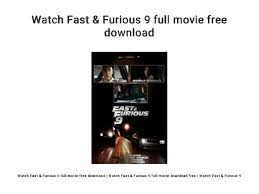 Dominic toretto is leading a quiet life off the grid with letty and his son, little brian, but they know that danger always lurks just over their peaceful horizon. Watch Fast Furious 9 Full Movie Free Download