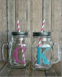 Decorating Mason Jars For Drinking Personalized Mason Jar Drinking Glass This Would Be Cute For 10