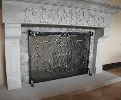 wonderful rod iron fireplace screens throughout wrought iron fireplace screens modern