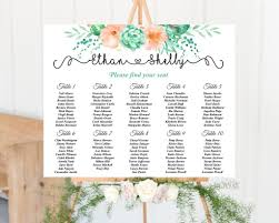 Cacti Seating Chart In 2019 Wedding Table Seating Wedding