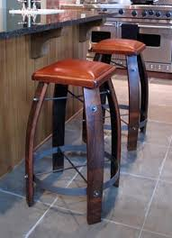 wood barrel furniture. Stave Stool With Leather Seat Wood Barrel Furniture B