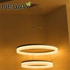 2 rings modern circle led pendant suspended ceiling lighting fixtures