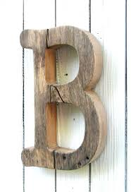 Unfinished Barn Wood Letter B, typewriter font, Baby Nursery wall decor,  Decorative Wood