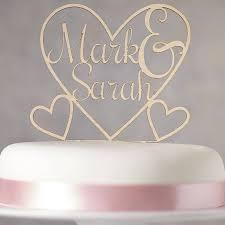 Personalised Heart Wooden Wedding Cake Topper By Sophia Victoria Joy