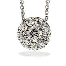 18ct white gold fulent pendant