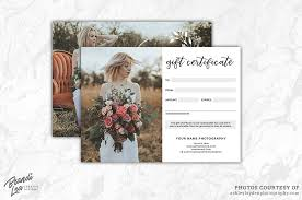photography gift certificate template exle image 2