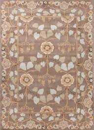 classic arts and crafts taupe blue wool area rug bowan classic