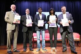 Nicholas Royle presenting an award at a previous Manchester Writing Competition ceremony Pinterest