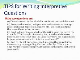 annotation instructions number your paragraphs underline the main  tips for writing interpretive questions make sure questions are 1 directly rooted in