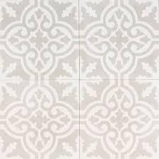 light grey moroccan bazaar tile single