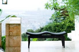 contemporary garden bench carly bali