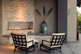 j series single sided outdoor gas fireplace installations