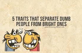 separate people. dumb people separate e