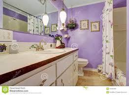 Purple Themed Bathroom Lovely Purple Themed Bathroom Stock Photo Image 55484586