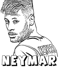 Neymar Colouring Pages Printable Related Keywords Suggestions