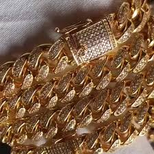 hip hop iced out 12mm width cuban link chain jewelry high quality cuban link chain 2018
