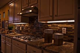top of cabinet lighting. Classic Kitchen With Under Cabinet Lighting Warm White, Dark Brown Wall Mounted Cabinet, Top Of R