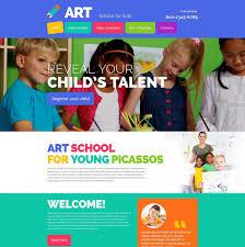 Kids School Website Template Art School Website Template For Kids Art Center