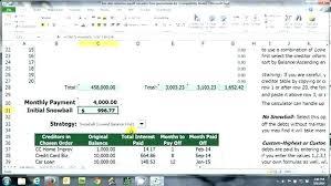 Credit Card Debt Calculator Excel Snowball Debt Calculator Excel