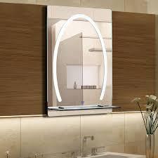 Kleankin Led Badezimmerspiegel Badspiegel Mit Beleuchtung Glas