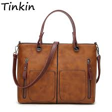 Tinkin <b>Vintage Women Shoulder Bag</b> Female Causal Totes for Daily ...