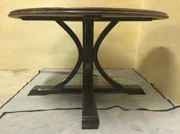 custom made 52 round table with splayed pedestal base