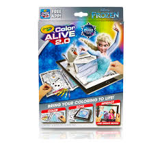 Crayola Frozen Color Alive 20 Interactive Coloring Pages Augmented Reality Art Tools Coloring Pages Crayons Free App Included Crayola