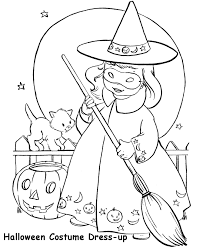 halloween costumes coloring pages halloween costume coloring page cute witch costume free