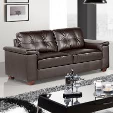 dark brown leather couches. Windsor 3 Seater Settee Dark Brown Leather Sofa Couches I