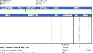 Ms Office Invoice Template Uk Receipt