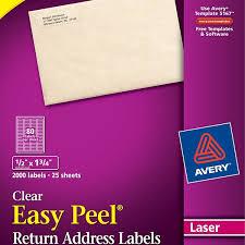 Avery Clear Return Address Labels Laser Magdalene Project Org