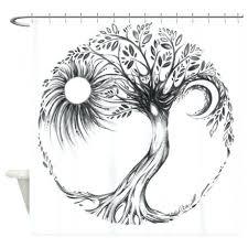 tree of life shower curtain dotz tree of life shower curtain