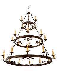 medallion 3 tier chandelier 1