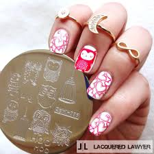Cute Owls Nail Art Stamp Template Image Plate Pattern #qgirl 036 ...