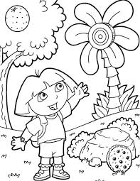 Dora The Explorer And Boots Coloring Pages Get Coloring Pages