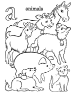 Small Picture Farm Alphabet Coloring Pages Farm ABC Activity sheets for Pre K