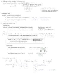 sequences and series notes 6