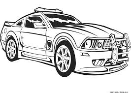 Printable lightning mcqueen colouring pages. Police Car Transportation Printable Coloring Pages