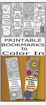 Book Side Designs Printable Coloring Bookmark Templates With Four Designs