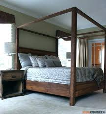 Queen Wood Canopy Bed Platform Canopy Bed Platform Canopy Bed Twin ...