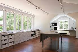 lighting in an office. home office with track lighting in an