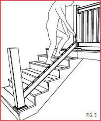 exterior stair height. tam-rail stair rail installation guide exterior height