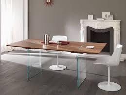 Italian Walnut Dining Table Nella Vetrina Tonelli Tavolante Modern Italian Walnut Wood Dining