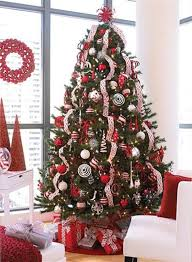 Christmas Tree White Decorations  Google Search  Christmas Ideas Red Silver And White Christmas Tree