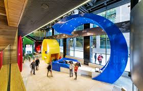 Google office snapshots Haifa Google In Dublin Is The Office That Oversees Europe On The First Floor There Is Large Object Decorated With Googles Logo And It Is Colorful That Can Gigazine Office Snapshots